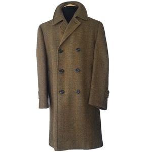 Vintage Norman Wetzler 1949 Men's Plaid Wool Coat